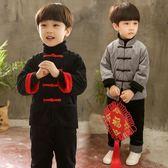 寶寶拜年服紅色過年喜慶裝男童裝兒童女童新年冬裝-小精靈