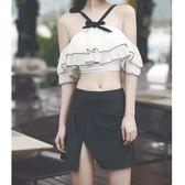 【618好康鉅惠】保守小胸遮肚裙式比基尼
