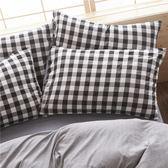 純色水洗棉枕套一對枕頭套學生單人枕芯套兩2只裝