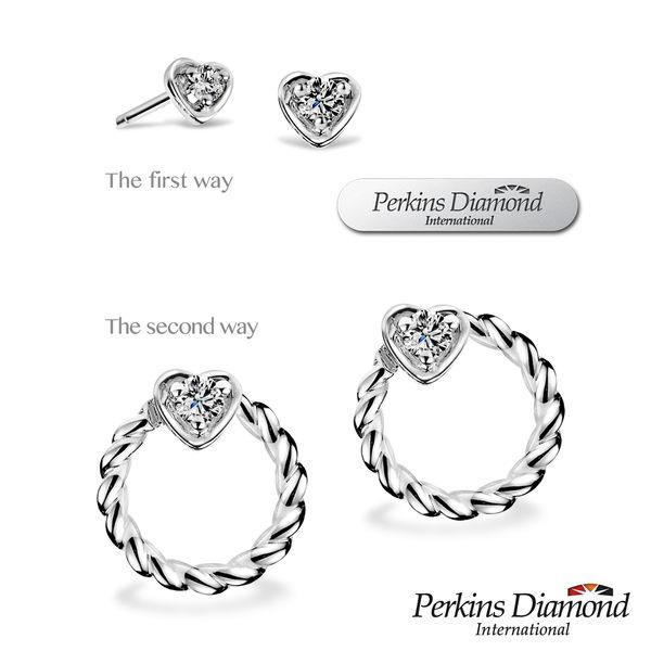 PERKINS 伯金仕 Heart系列 鑽石耳環