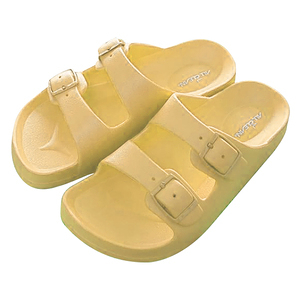 HOLA 兒童室內舒適拖鞋黃16