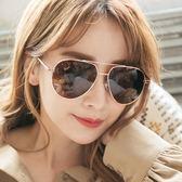 歐美飛行員款金框棕片偏光墨鏡/太陽眼鏡-ASLLY濾藍光眼鏡-娜芙蒂蒂的左眼