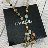 BRAND楓月 CHANEL 香奈兒 07年 藍綠粉 繽紛多色 珠珠 串珠 LOGO 項鍊 飾品 配件