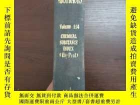 二手書博民逛書店CHEMICAL罕見ABSTRACTS Vol.114 CHEMISAL SUBSTANCE INDEX(Os-P