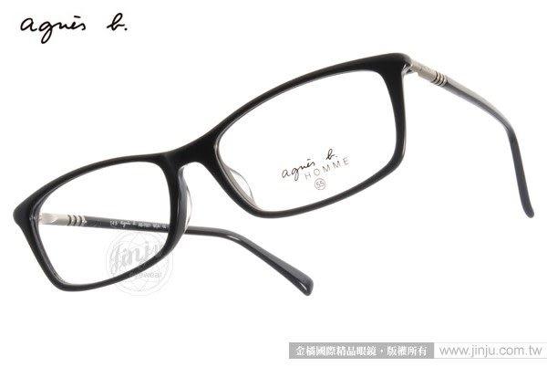 agnes b.光學眼鏡 AB7021 BCA (黑) 氣質典雅法式簡約百搭款 # 金橘眼鏡