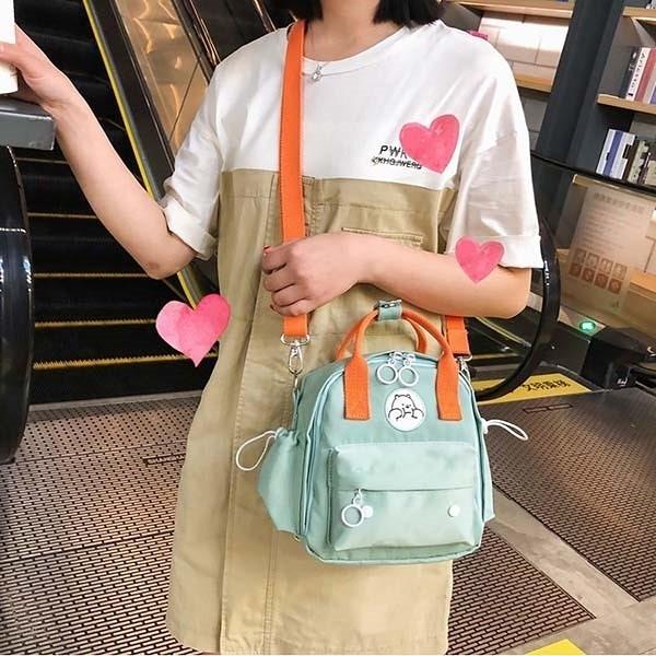 少女熊熊刺繡三用包(可後側背手提) 獨具衣格 H615