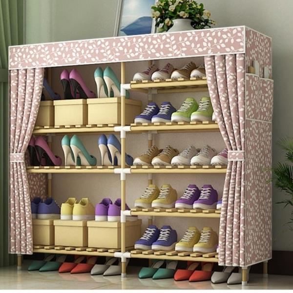 【快出】鞋櫃簡易經濟型省空間家用多功能門口鞋架防塵實木組裝收納櫃YYP