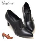 踝靴 美型側鬆緊尖頭高跟靴