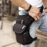 帆布腿包男多功能腿包戶外休閒戰術包腰包騎行軍迷腰腿包 韓國時尚週