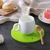 聖誕好物85折 硅膠放菜盤砂鍋盤子墊子托盤隔熱墊餐桌墊家用創意防熱防燙耐高溫
