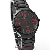 Valentino范倫鐵諾 超薄設計美學全黑格紋數字手錶腕錶 柒彩年代【NE1041】原廠公司貨