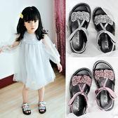 女童涼鞋2018新款韓版夏季防滑軟底兒童公主水鑽寶寶鞋子女1-3歲