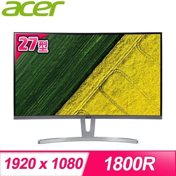 【南紡購物中心】ACER 宏碁 ED273 A 27型 144hz曲面無邊框電競螢幕