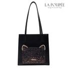 手提包 閃耀貓星人貓耳朵造型大方包 3色-La Poupee樂芙比質感包飾 (現貨+預購)