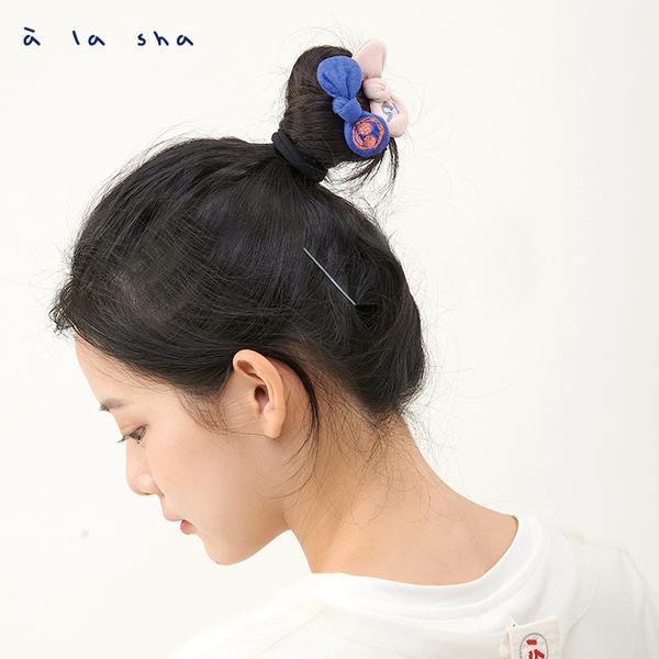 a la sha 立體蝴蝶結U型髮夾 (2入1組)