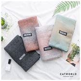 Catworld 雙色漸層仿羊絨圍巾【18003202】‧F