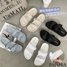 售完不補PAPORA輕量防水百搭拖鞋K2021