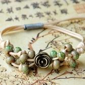 陶瓷手鍊-優雅玫瑰生日情人節禮物女串珠手環6色73gw8【時尚巴黎】