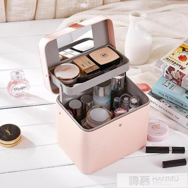 化妝箱大容量風超火收納盒女旅行化妝品化妝包手提便攜收納包  牛轉好運到