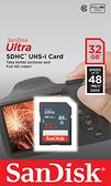 【公司貨】SanDisk Ultra SDHC-32GB 48mb/s 記憶卡 32G