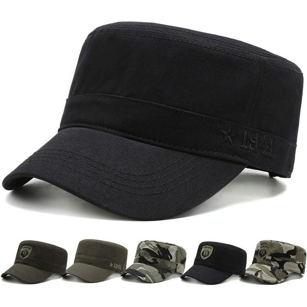 帽子男短檐平頂帽老年帽鴨舌帽中年女士遮陽防曬帽軍人帽戶外帽潮 時尚芭莎