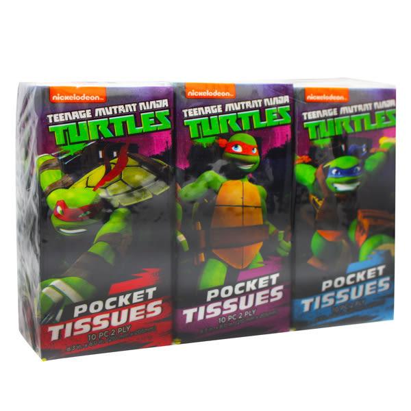 【美國熱銷卡通 Ninja turtle】紙手帕6包(10張/包)