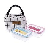 HOLA 史努比 Snoopy系列玻璃保鮮盒750ml兩件組附提袋