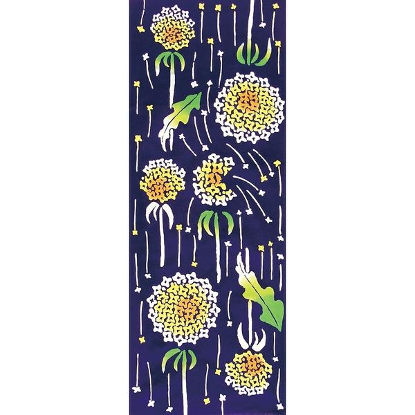 【日本製】【和布華】 日本製 注染拭手巾 流星蒲公英圖案(一組:3個) SD-4963-3 - 和布華