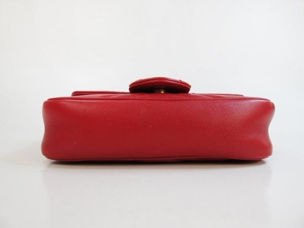 【巴黎站二手名牌專賣店】*現貨*GUCCI 真品*476433 型紋復古金LOGO紅色Supermini鏈肩包