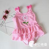 兒童泳衣女孩連體泳裝女童泳衣可愛公主嬰幼兒小寶寶游泳衣泡溫泉-奇幻樂園