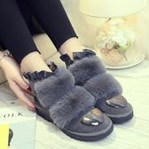 中筒雪靴-時尚休閒保暖側拉鏈女靴子3色73kg83[巴黎精品]