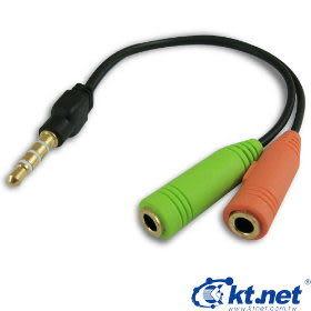 電腦耳機麥克風可使用在iPhone 的音源孔轉換線15CM