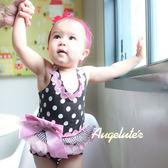 無袖包屁裙 水玉點點 蓬蓬紗 女寶寶 包屁衣 爬服 哈衣 Augelute Baby 32146