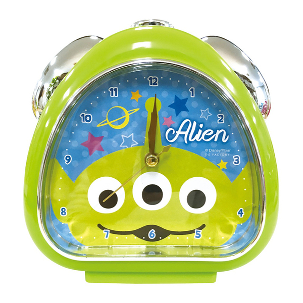 T'S FACTORY 三角飯糰造型鬧鐘 附夜燈功能 桌鐘 時鐘 迪士尼 三眼怪 大臉 綠