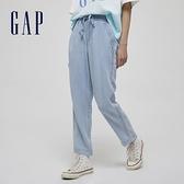 Gap女裝 萊賽爾繫帶寬鬆休閒褲 954534-淺靛藍