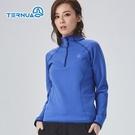 TERNUA 女Power Stretch半門襟彈性保暖中層衣1206562 ( 登山 露營 旅遊健行)
