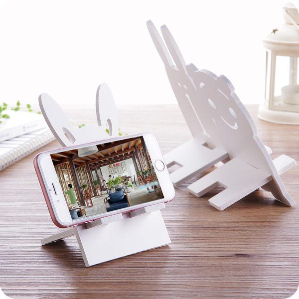 創意卡通造型手機支架手機座可愛純色手機架平板支架懶人手機托架