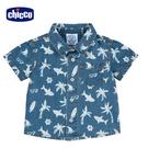 chicco-TO BE-海灘鯊魚牛仔短袖襯衫