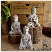 小和尚保平安釋迦摩尼佛像造景擺件