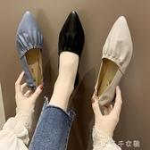 新款奶奶鞋仙女氣質配裙子單鞋chic尖頭晚晚鞋芭蕾舞鞋女 千千女鞋