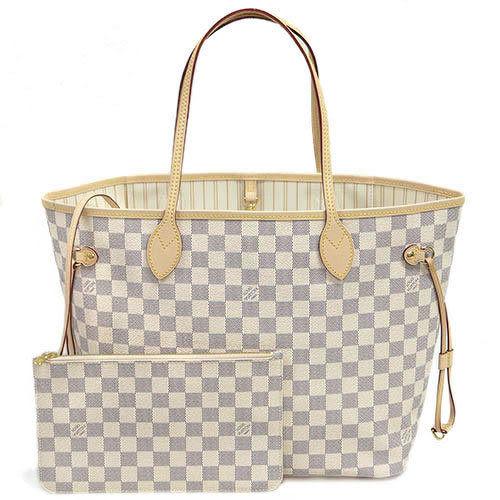 茱麗葉精品 全新名牌 Louis Vuitton LV N41361 NEVERFULL MM 棋盤格紋子母束口購物包(預購)