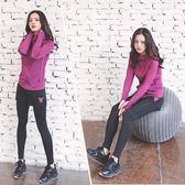 瑜伽服套裝女2018新款秋冬韓版健身房專業運動跑步顯瘦速干四件套