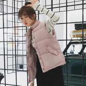 新年好禮85折 2018新款羽絨棉馬甲女學生秋冬bf馬夾短款韓版百搭背心女坎肩外套