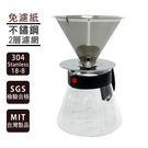 手沖式不鏽鋼咖啡組/咖啡沖泡壺[06G3]- [ 大番薯批發網 ]
