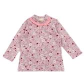 【愛的世界】彈性小兔荷葉領肩扣套頭長袖上衣/1~4歲-台灣製- --秋冬上著