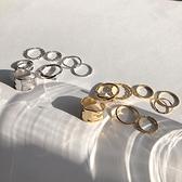 戒指甜酸冷淡風扭曲戒指套裝日式輕奢小眾設計感ins風食指戒指素圈 JUST M