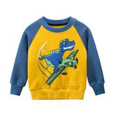飛機恐龍加絨長袖上衣 童裝 T-shirt