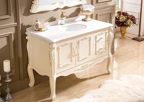 浴櫃 歐式PVC浴室櫃落地組合簡歐衛生間整體洗手洗臉盆櫃衛浴櫃現貨DF