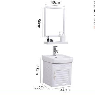 浴室櫃  浴室柜組合現代簡約小戶型衛生間洗漱臺太空鋁合金洗手面臉盆鏡柜