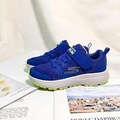 《7+1童鞋》SKECHERS 輕量透氣 橡膠大底 慢跑鞋 運動鞋 D946 藍色